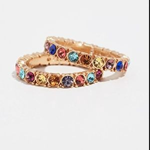 Baublebar Set of Two Multicolored Crystal Rings